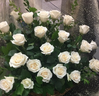 Simply Beautiful Rose Basket