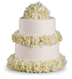 Sweet and White Cake Decoration