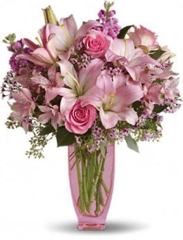 Pink Pink Bouquet with Premium Pink Roses